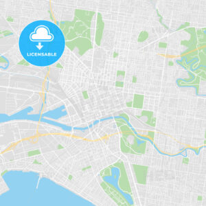 Printable map of Melbourne, Australia - HEBSTREITS