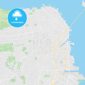Printable map of San Francisco, United States - HEBSTREITS