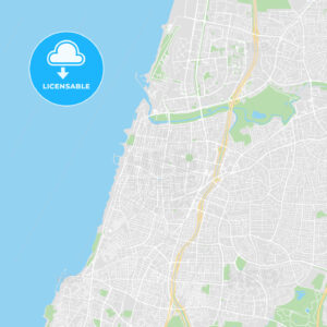 Printable map of Tel Aviv, Israel - HEBSTREITS