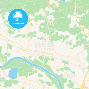 Radebeul, Germany Vector Map – Classic Colors - HEBSTREITS Sketches