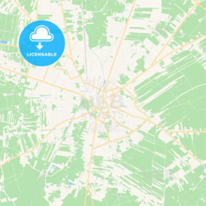 Radomsko, Poland Vector Map – Classic Colors - HEBSTREITS Sketches