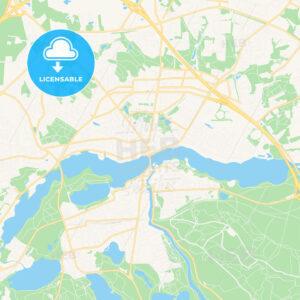Silkeborg, Denmark Vector Map – Classic Colors - HEBSTREITS Sketches