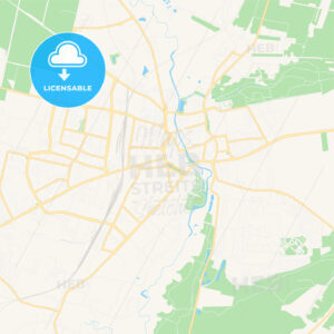 Slupsk, Poland Vector Map – Classic Colors - HEBSTREITS Sketches