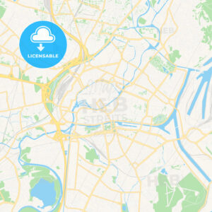 Strasbourg, France Vector Map – Classic Colors - HEBSTREITS Sketches