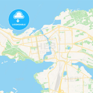 Tampere, Finland Vector Map – Classic Colors - HEBSTREITS Sketches