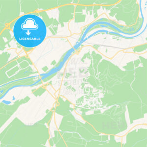 Trencin, Slovakia Vector Map – Classic Colors - HEBSTREITS Sketches