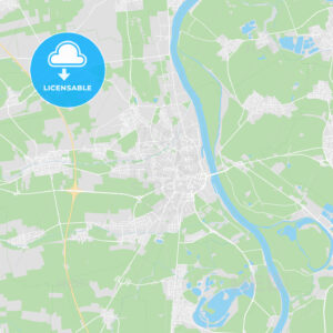 Worms, Germany printable street map - HEBSTREITS