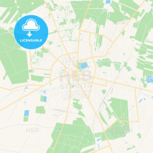 Zgierz, Poland Vector Map – Classic Colors - HEBSTREITS Sketches