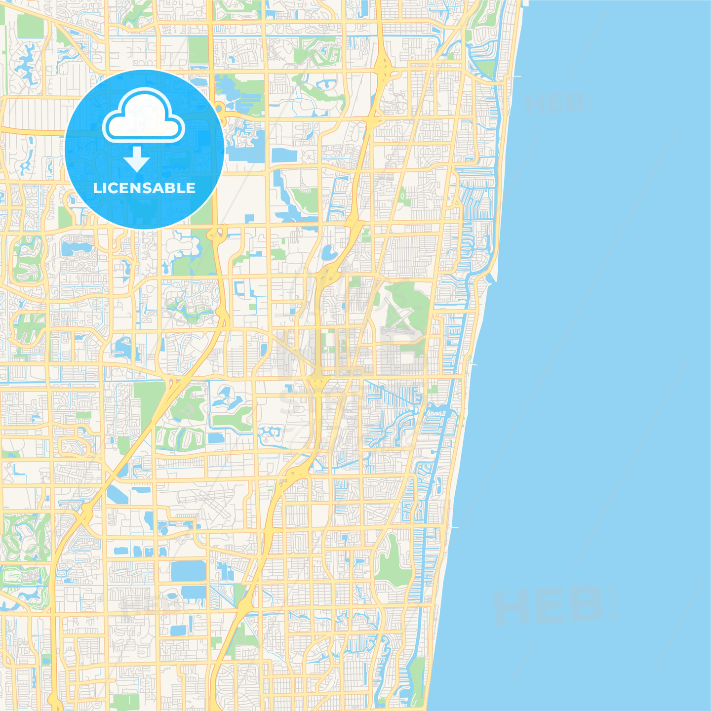 Empty vector map of Pompano Beach, Florida, USA on dinosaurs florida, sales territory maps florida, georgia florida, skyline miami beach florida, usa geography florida, butterflies florida, animals florida, maryland florida, google maps florida, united states florida, california florida, home florida,