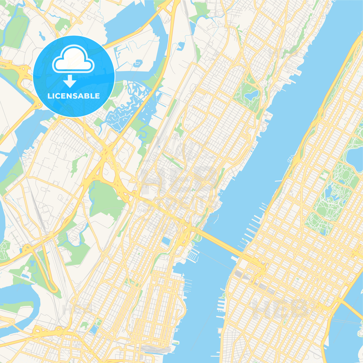 Empty vector map of Union City, New Jersey, USA | HEBSTREITS Sketches
