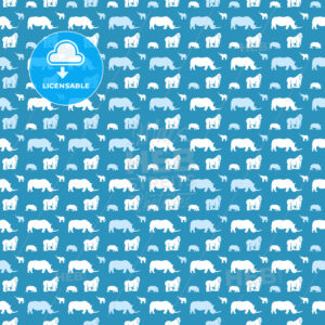 Seamless animal pattern for kids on blue - HEBSTREITS Sketches