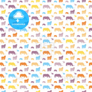 Seamless safari animals for kids wall art pattern - HEBSTREITS Sketches