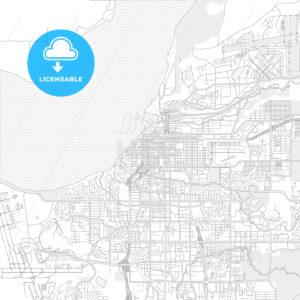 Anchorage, Alaska, USA, bright outlined vector map - HEBSTREITS Sketches