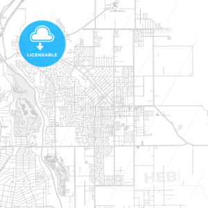 Apple Valley, California, USA, bright outlined vector map - HEBSTREITS Sketches