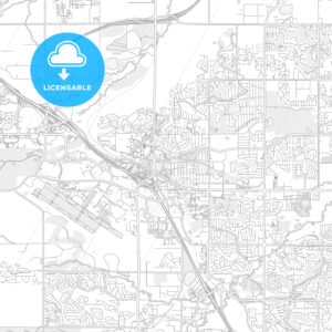 Broomfield, Colorado, USA, bright outlined vector map - HEBSTREITS Sketches