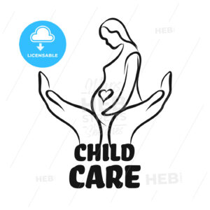Child care icon with hands - HEBSTREITS Sketches