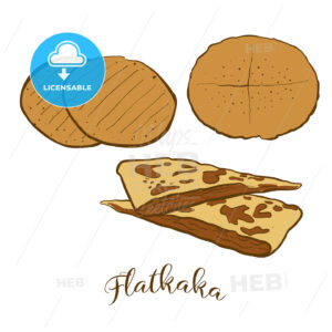 Colored sketches of Flatkaka bread - HEBSTREITS Sketches