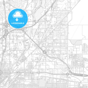 Commerce City, Colorado, USA, bright outlined vector map - HEBSTREITS Sketches