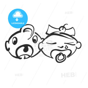 Crying babys signs - HEBSTREITS Sketches