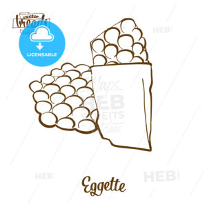 Eggette bread vector drawing - HEBSTREITS Sketches