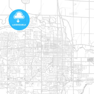 Greeley, Colorado, USA, bright outlined vector map - HEBSTREITS Sketches