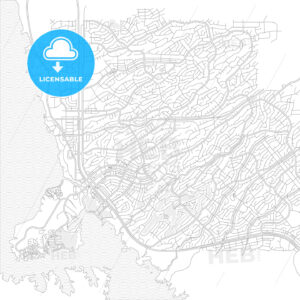 Lake Havasu City, Arizona, United States of America, bright outlined vector map - HEBSTREITS Sketches