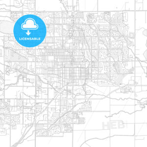 Longmont, Colorado, USA, bright outlined vector map - HEBSTREITS Sketches
