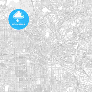 Los Angeles, California, USA, bright outlined vector map - HEBSTREITS Sketches