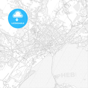 Lynn, Massachusetts, USA, bright outlined vector map - HEBSTREITS Sketches