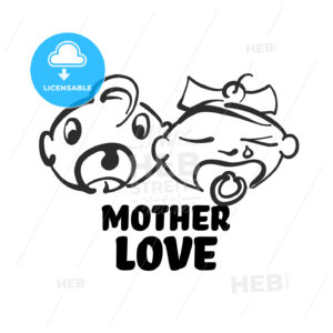 Mother love icon - HEBSTREITS Sketches