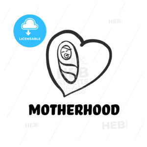 Motherhood icon - HEBSTREITS Sketches