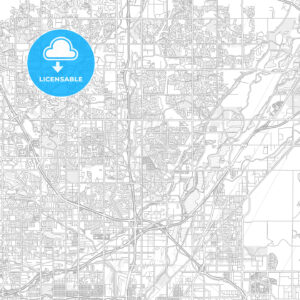 Thornton, Colorado, USA, bright outlined vector map - HEBSTREITS Sketches