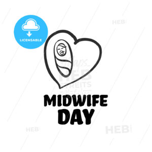midwife day icon with lettering - HEBSTREITS Sketches