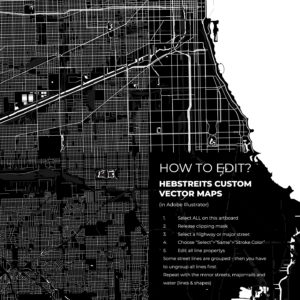 CUSTOM VECTOR MAP Black and White Sample