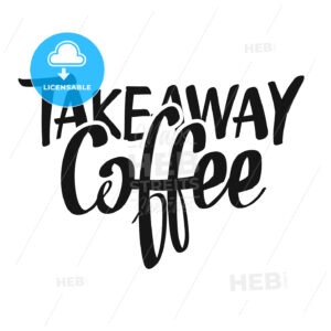 Coffee Takeaway handwritten lettering - HEBSTREITS Sketches