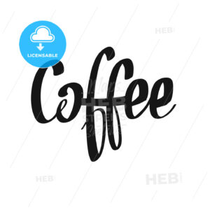 Coffee handwritten lettering - HEBSTREITS Sketches