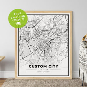 Custom Light Map Poster Print