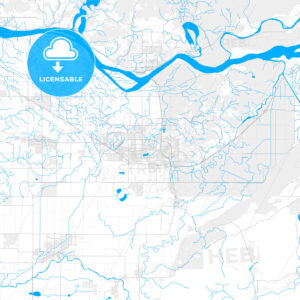 Rich detailed vector map of Abbotsford, British Columbia, Canada - HEBSTREITS Sketches