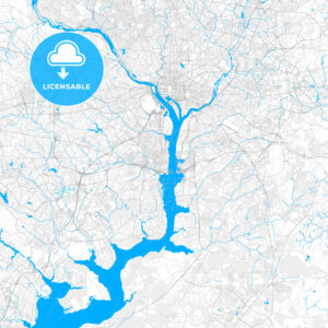 Rich detailed vector map of Alexandria, Virginia, USA - HEBSTREITS Sketches
