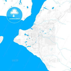 Rich detailed vector map of Anchorage, Alaska, U.S.A. - HEBSTREITS Sketches