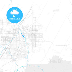 Rich detailed vector map of Apple Valley, California, USA - HEBSTREITS Sketches