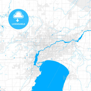 Rich detailed vector map of Appleton, Wisconsin, USA - HEBSTREITS Sketches