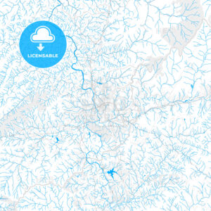 Rich detailed vector map of Asheville, North Carolina, USA - HEBSTREITS Sketches