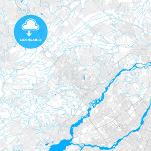 Rich detailed vector map of Blainville, Quebec, Canada - HEBSTREITS Sketches