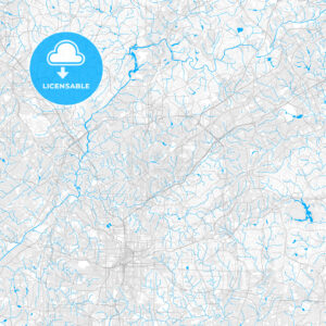 Rich detailed vector map of Brookhaven, Georgia, United States of America - HEBSTREITS Sketches