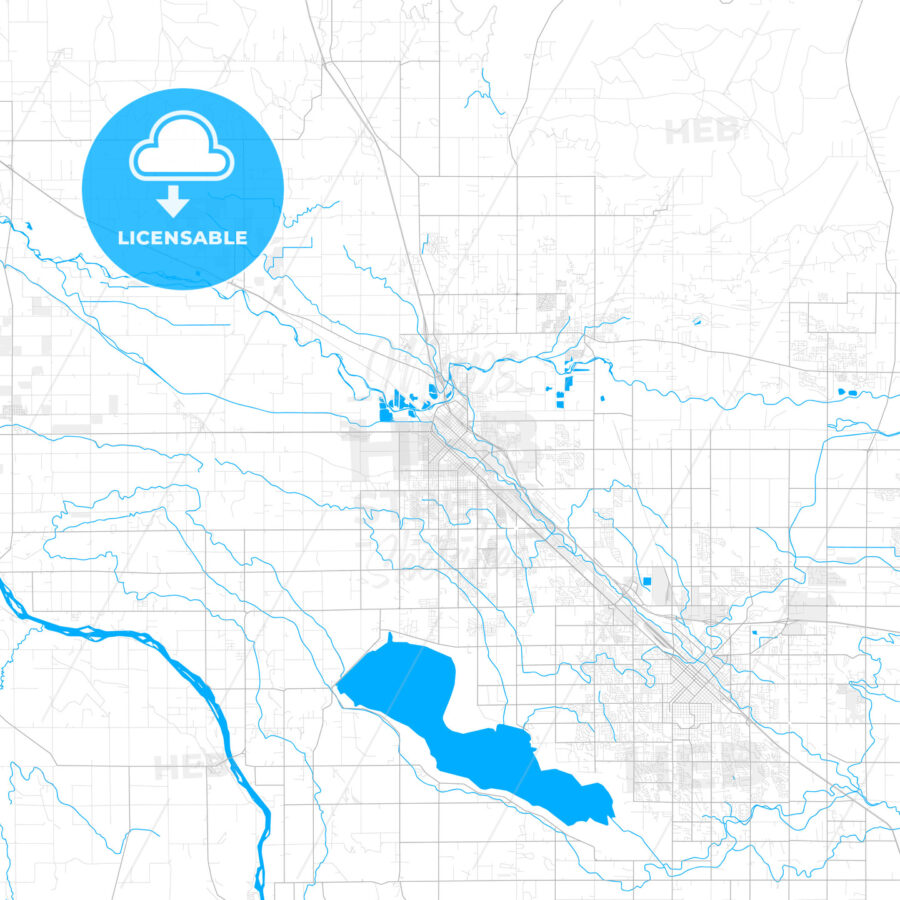 Rich detailed vector map of Caldwell, Idaho, United States of America - HEBSTREITS Sketches