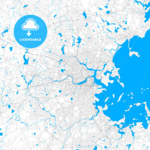 Rich detailed vector map of Cambridge, Massachusetts, USA - HEBSTREITS Sketches