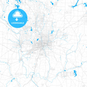 Rich detailed vector map of Canton, Ohio, USA - HEBSTREITS Sketches