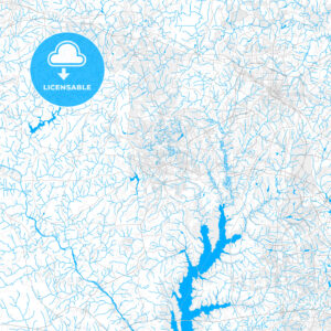 Rich detailed vector map of Chapel Hill, North Carolina, USA - HEBSTREITS Sketches