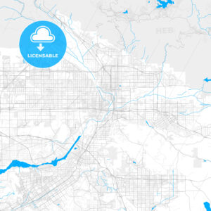 Rich detailed vector map of Colton, California, USA - HEBSTREITS Sketches